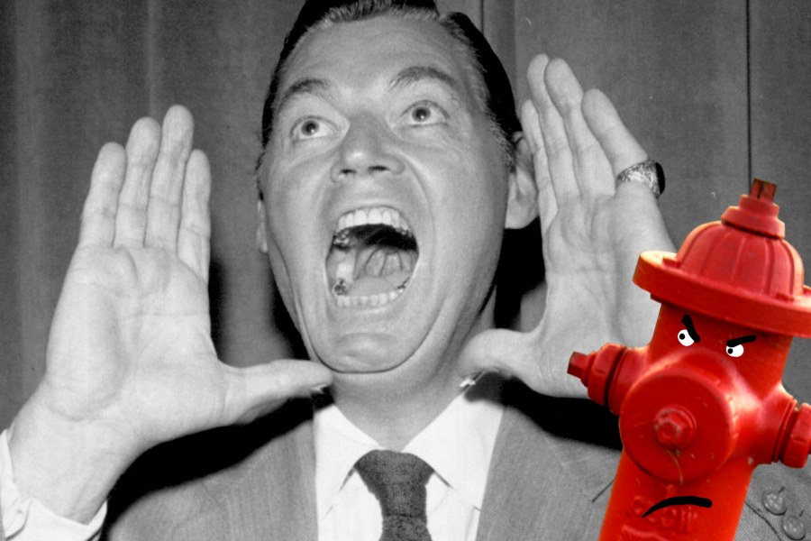 "Ok, so that's actually Johnny Weissmuller, doing the Tarzan yell, but it kinda looks like he's yelling ""FIRE!"""
